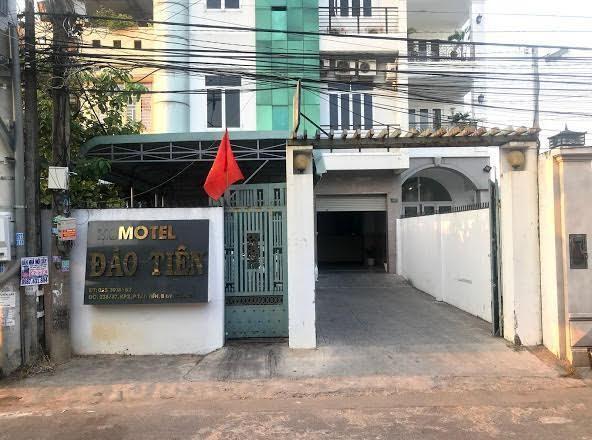 Nhà nghỉ nơi phát hiện 12 người Trung Quốc lưu trú. (Ảnh: Tiền Phong)