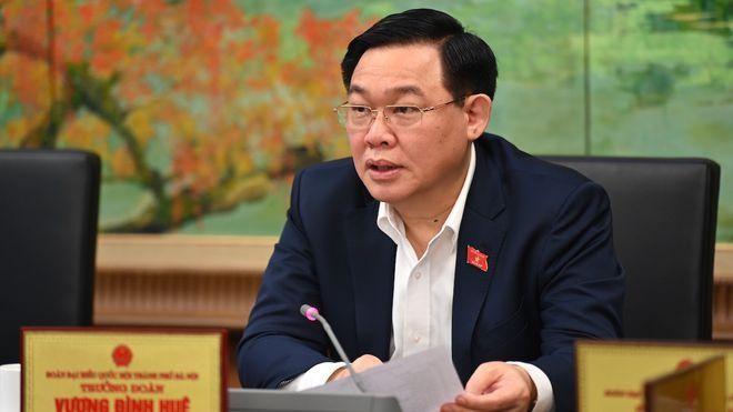 Bí thư Thành uỷ Hà Nội Vương Đình Huệ được giới thiệu bầu làm Chủ tịch Quốc hội. (Ảnh: Thanh Niên)