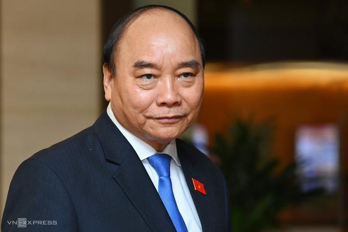 Quốc hội sáng 2/4 miễn nhiệm chức danh Thủ tướng đối với ông Nguyễn Xuân Phúc. (Ảnh: VnExpress)