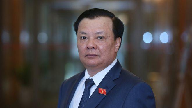 Tân Bí thư Thành ủy Hà Nội Đinh Tiến Dũng. (Ảnh: NGỌC THẮNG)