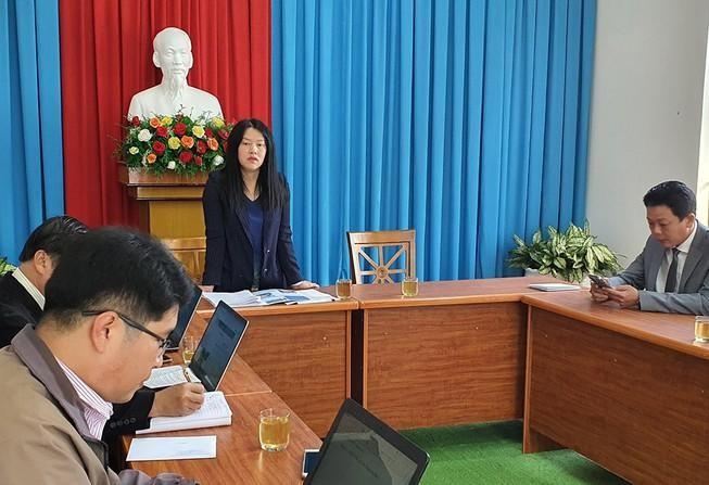 Phó Chủ tịch UBND TP Đà Lạt thông tin về việc hai chủ tịch phường tụ tập sử dụng chất kích thích. Ảnh: THÔNG XANH