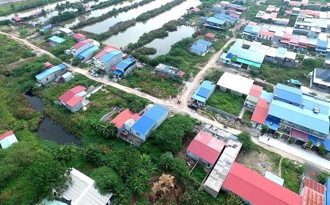Toàn cảnh khu đất 9,2 ha tại phường Thành Tô bị lấn chiếm, xây dựng tràn lan. Ảnh: An Ninh Hải Phòng.