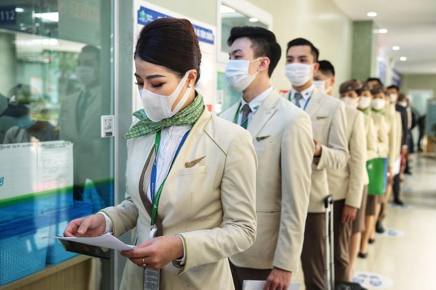 Hoạt động tiêm vaccine phòng Covid-19 đã và đang được đẩy mạnh cho toàn bộ nhân viên Bamboo Airways và các đơn vị công ty liên kết liên quan.