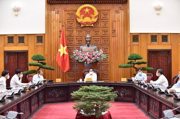 hủ tướng Phạm Minh Chính làm việc với Thanh tra Chính phủ. Ảnh: Nhật Bắc