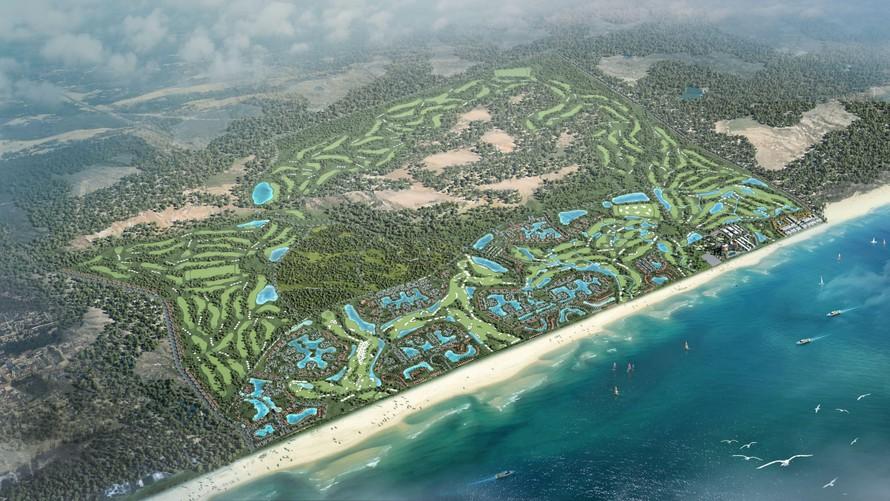 Quảng Bình đang là điểm đến thu hút nhiều nhà đầu tư (Ảnh dự án FLC Quang Binh Beach & Golf Resort).