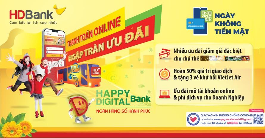 Trúng nhà, trúng xe, nhận ngay ưu đãi hoàn tiền 50% khi thanh toán không tiền mặt với HDBank