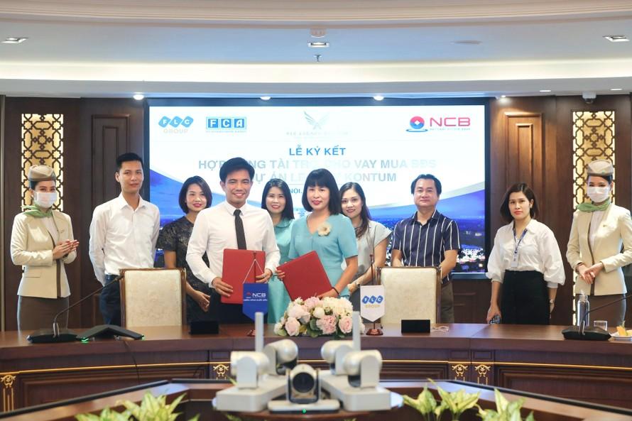 Lễ ký kết hợp tác giữa Tập đoàn FLC và Ngân hàng Thương mại Cổ phần Quốc Dân (NCB) nhằm phát triển chương trình ưu đãi tín dụng dành riêng cho khách hàng mua nhà dự án FLC Legacy Kontum.