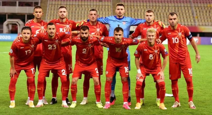 Đội hình đội tuyển quốc gia Bắc Macedonia tham dự EURO 2020. (Ảnh: Internet)