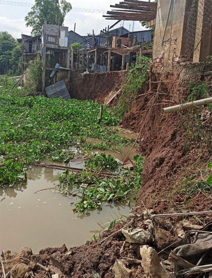 Hiện trường vụ sạt lở ngày 5/6 đoạn sông Châu Đốc thuộc huyện An Phú, tỉnh An Giang. Ảnh: Ngọc Tài