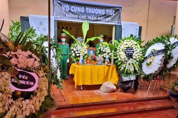 Lễ tang quân nhân Trần Đức Đô. (Ảnh: Tuổi trẻ)
