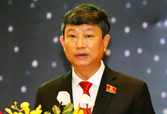 Ông Võ Văn Minh, tân Chủ tịch UBND tỉnh Bình Dương tại kỳ họp HĐND sáng 6/7. (Ảnh: VnExpress)