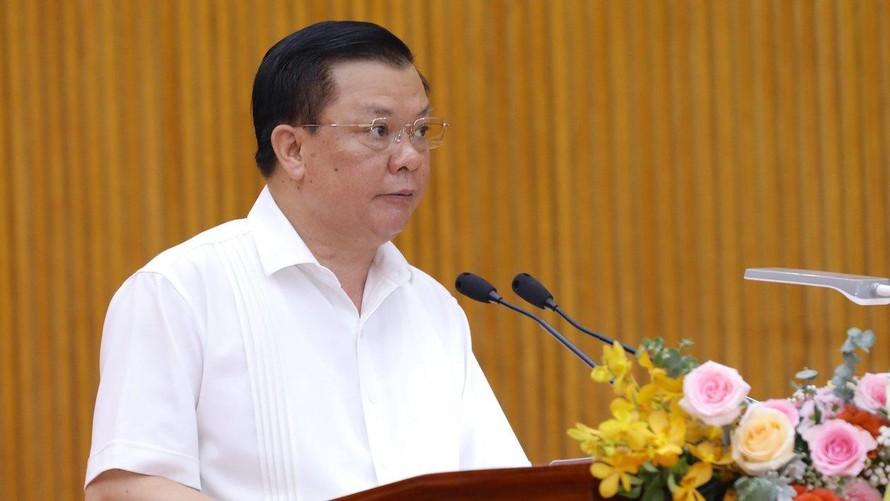 Bí thư Thành ủy Hà Nội Đinh Tiến Dũng. (Ảnh: Thanh Niên)