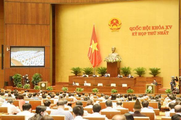 Toàn cảnh kỳ họp thứ nhất, Quốc hội khóa XV. (Ảnh: Quốc hội)