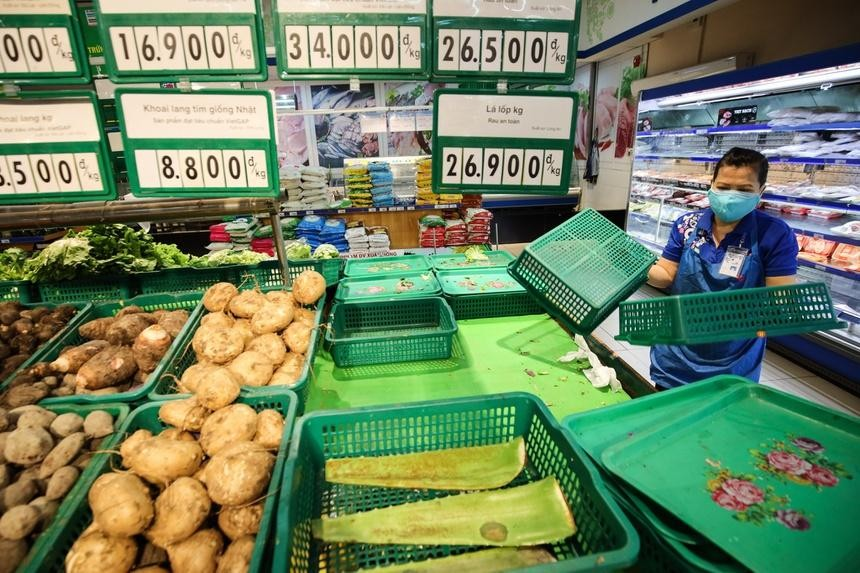 Nhiều siêu thị, chợ tại Hà Nội phải dừng hoạt động vì có ca mắc Covid-19. Ảnh minh họa: Phương Lâm.