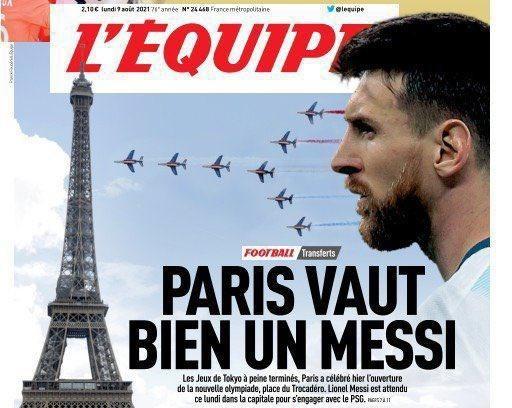 Báo chí Pháp rất háo hức với sự kiện Messi đến PSG