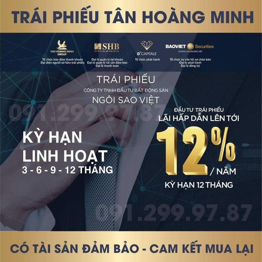 Trái phiếu Tân Hoàng Minh: Nhà phát hành 'không chịu trách nhiệm', BVSC 'không đảm bảo'
