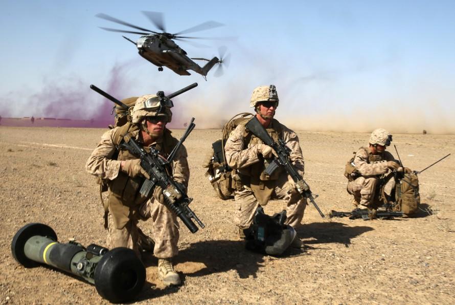 Lính thủy quân lục chiến Mỹ tại Afghanistan. Ảnh: US Marine