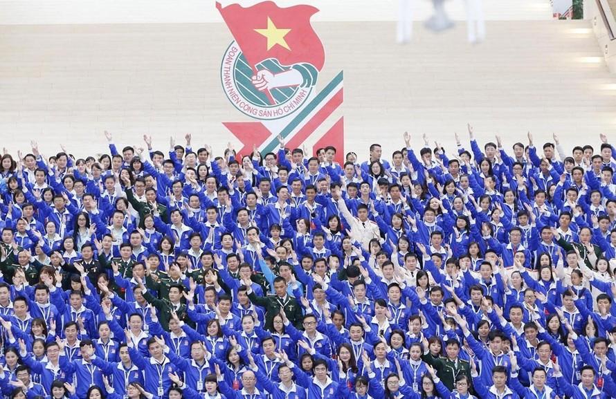 Đoàn viên Thanh niên tiêu biểu tham dự Đại hội Đại biểu toàn quốc Đoàn Thanh niên Cộng sản Hồ Chí Minh lần thứ XI. Ảnh: TTXVN