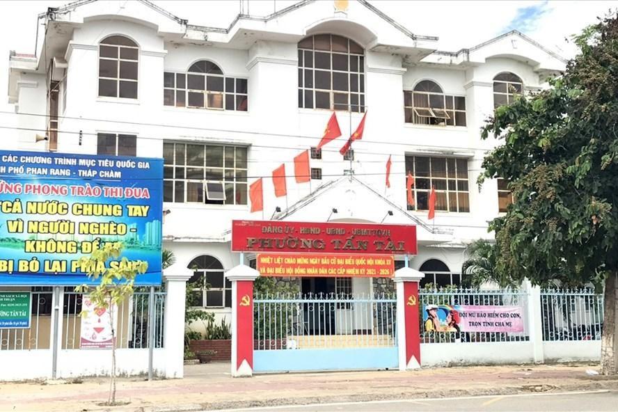 Trụ sở UBND phường Tấn Tài, TP Phan Rang - Tháp Chàm (Ninh Thuận). (Ảnh: Lao Động)