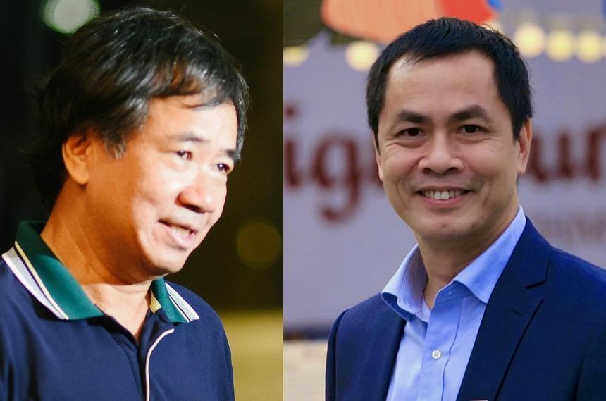 Nhà văn Bình Ca và nhà thơ Hữu Việt. (Ảnh: Zing)
