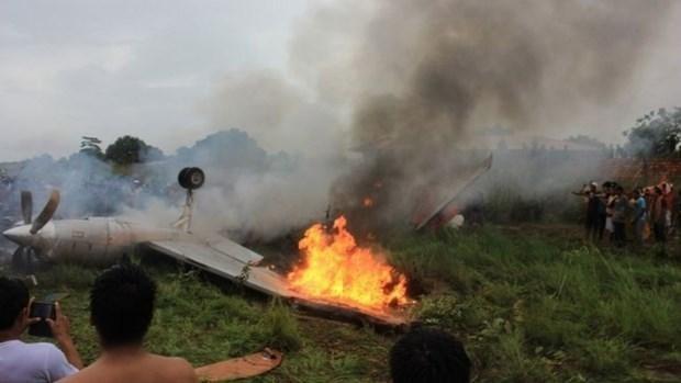 Hiện trường một vụ tai nạn máy bay tại Bolivia. (Ảnh: BBC)