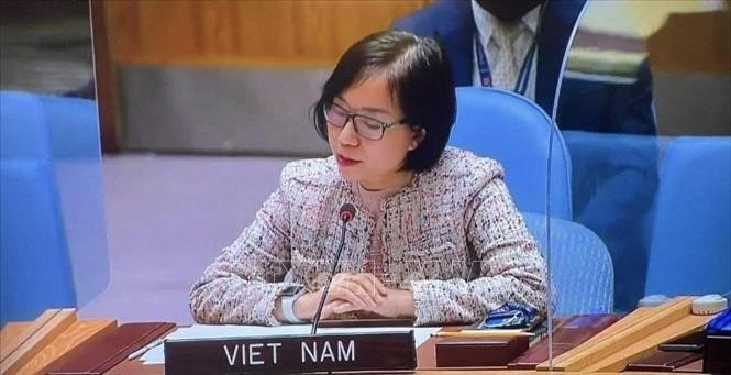 Tham tán Công sứ, Phó Trưởng Phái đoàn Thường trực Việt Nam tại LHQ Nguyễn Phương Trà. Ảnh: TTXVN
