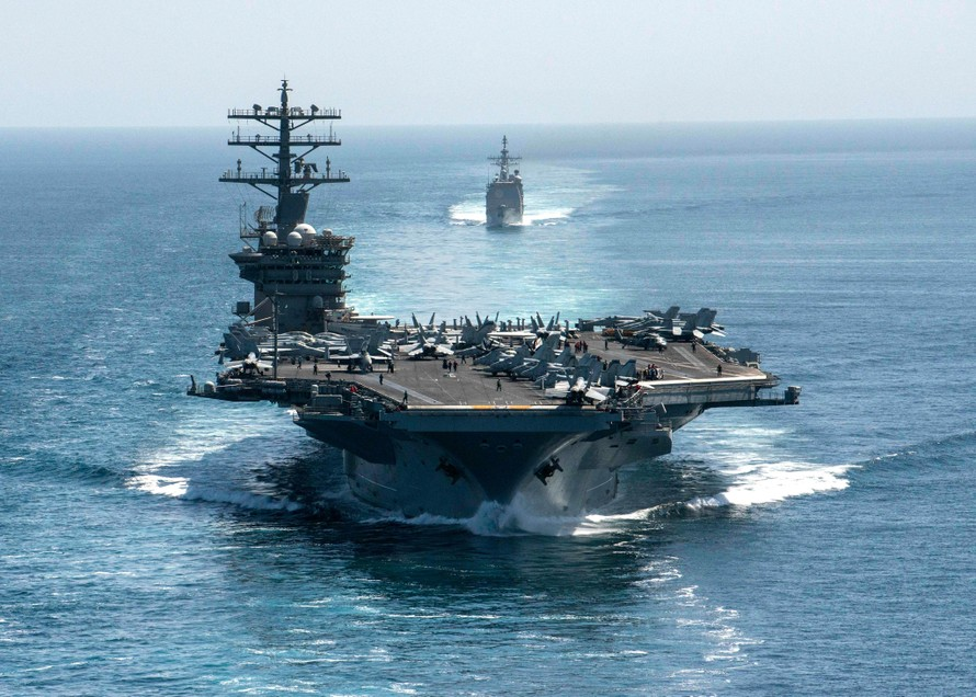 Tàu sân bay USS Nimitz của Hải quân Mỹ. (Ảnh: The Economic Times)