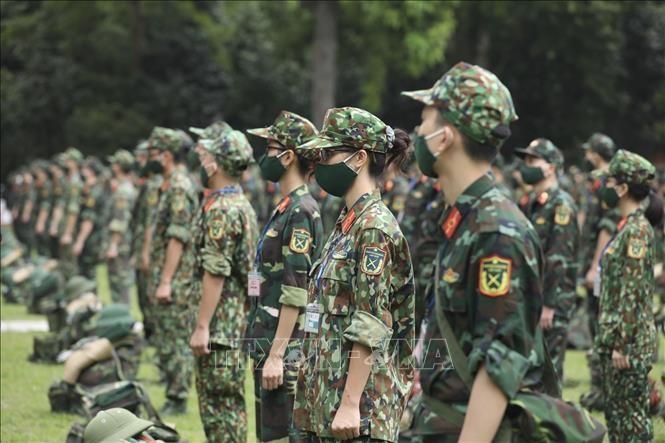 Học viên Học viện Quân y trước khi lên đường vào Nam làm nhiệm vụ. Ảnh: Minh Quyết/TTXVN