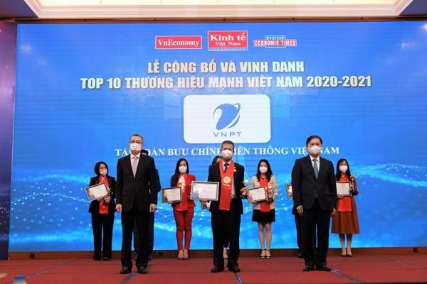 VNPT được vinh danh trong TOP 10 Thương hiệu mạnh Việt Nam 2020-2021