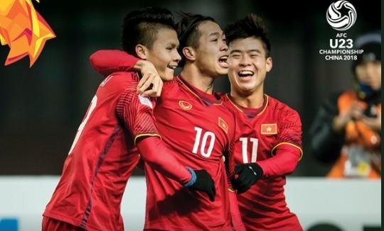 Công Phượng bắt đầu dấu ấn tập thể của U23 Việt Nam bằng bàn mở tỷ số sớm...