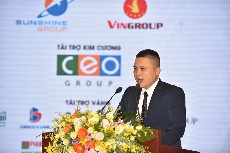 Ông Lê Nhỏ, đại diện Tập đoàn Sunshine Group phát biểu tại Hội nghị Bất động sản Quốc tế 2018