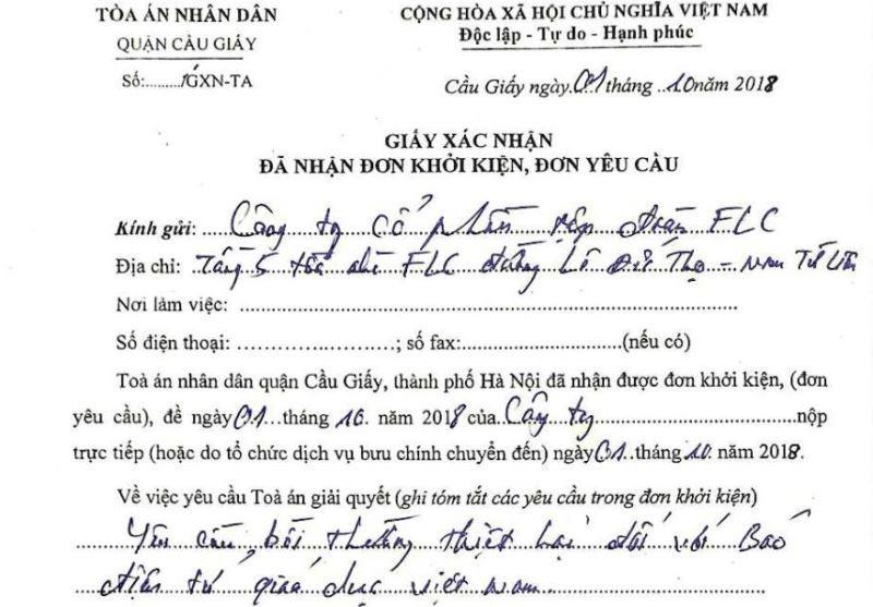 Tập đoàn FLC khởi kiện Báo điện tử Giáo dục Việt Nam