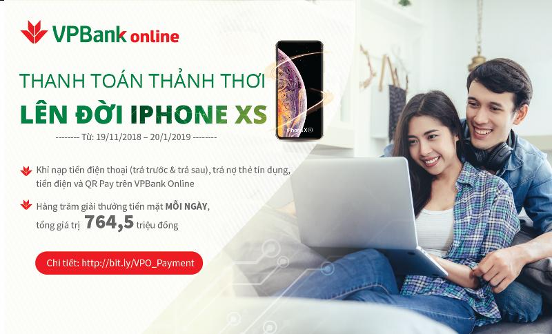 VPBank ưu đãi lớn khách hàng dùng VPBank Online