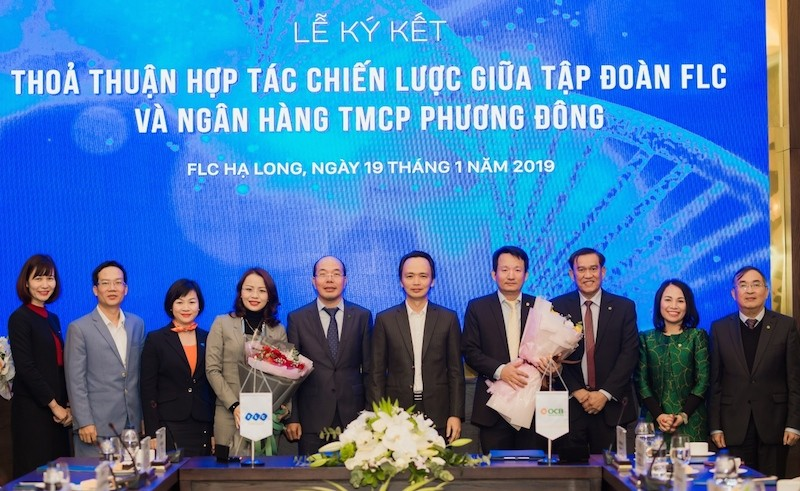 Lễ kí kết hợp tác toàn diện giữa Tập đoàn FLC và OCB