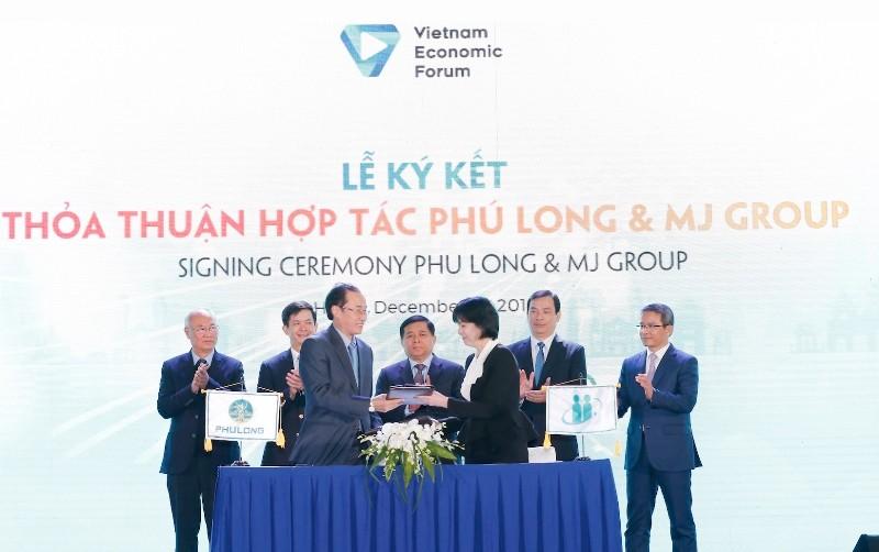 Ngày 9/12/2019, trong khuôn khổ Diễn đàn Du lịch cấp cao Việt Nam, Công ty Phú Long và MJ Group đã tổ chức ký kết biên bản ghi nhớ về việc hợp tác trong lĩnh vực quản lý chăm sóc sức khoẻ, làm đẹp cao cấp.