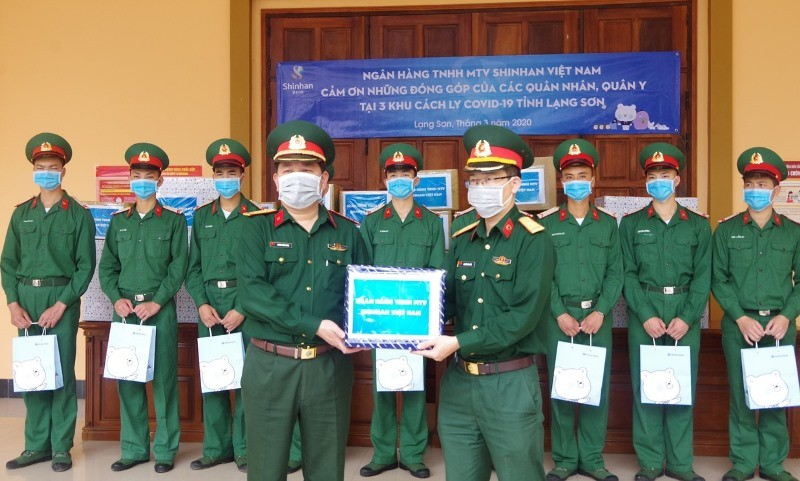Ngân hàng Shinhan tiếp sức chống dịch tại ba điểm cách ly tỉnh Lạng Sơn