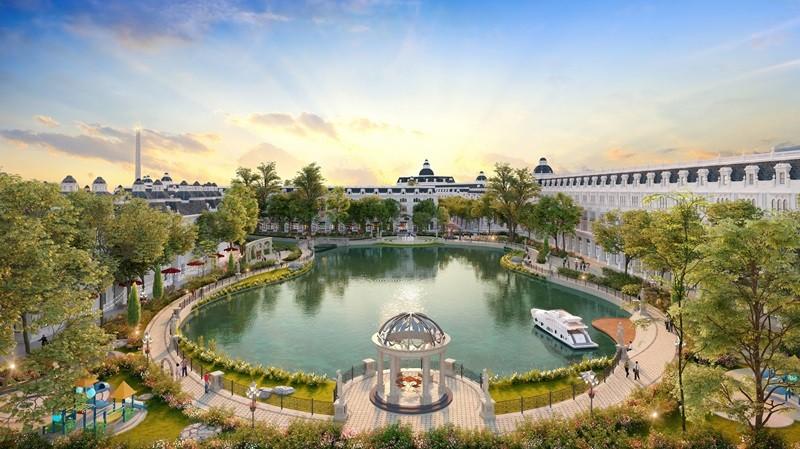 Phối cảnh công viên trong lòng dự án Danko City