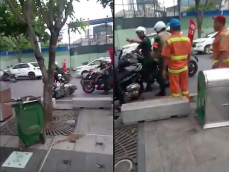 Hình ảnh đoàn xe CLB Moto quận 5 gây tai nạn trên đường gây nhiều bức xúc. Ảnh: cắt từ clip