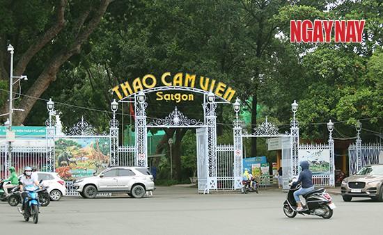 Cổng chính Thảo Cầm Viên Sài Gòn. Ảnh: Nhóm PV tại TP.HCM