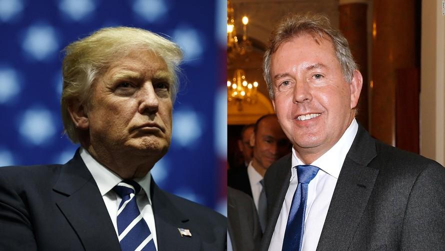 Đại sứ Kim Darroch (phải) đã phải từ chức do những văn bản rò rỉ với những nội dung không hay ho dành cho Tổng thống Trump.