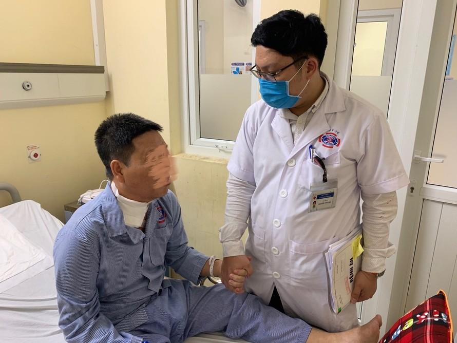 Sau ca phẫu thuật, bệnh nhân đã sinh hoạt trở lại bình thường.