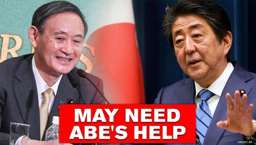 Ông Yoshihide Suga và ông Abe.