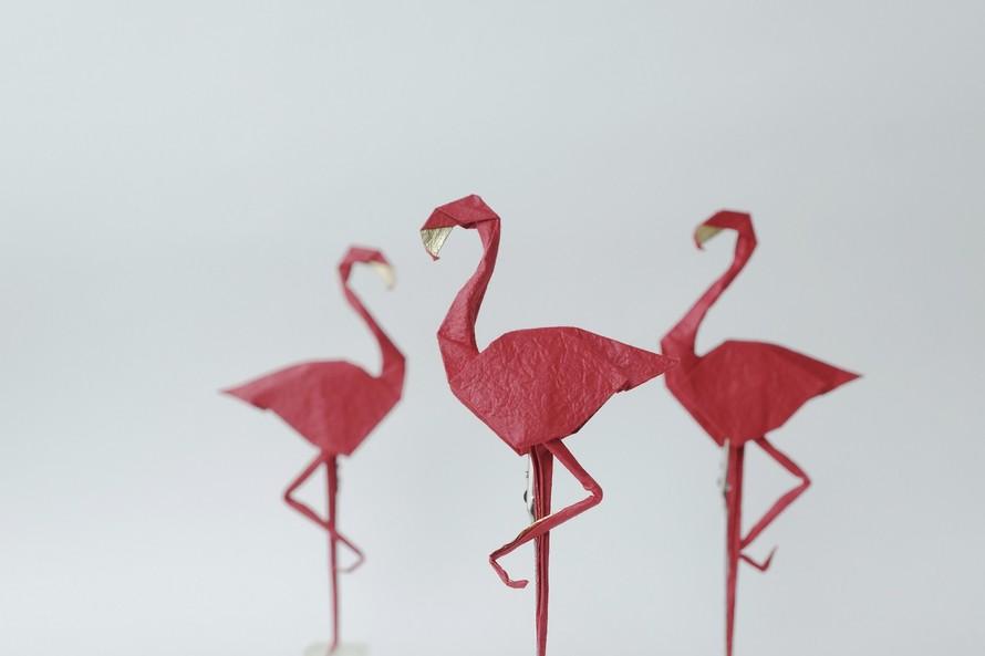 Tác phẩm Flamingo (Hồng hạc). Tác giả: Nguyễn Linh Sơn