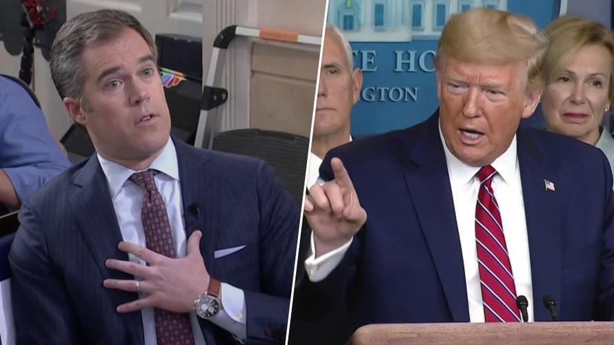 Trump giận dữ công kích phóng viên Alexander Peter. (Ảnh: Flipboard.com)