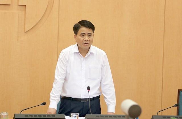Chủ tịch UBND TP Hà Nội phát biểu kết luận hội nghị