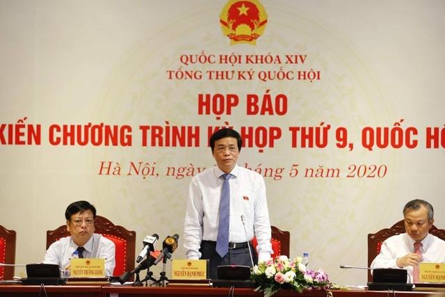 Tổng Thư ký Quốc hội Nguyễn Hạnh Phúc trả lời câu hỏi của phóng viên về vụ án Hồ Duy Hải.