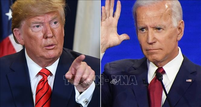 Tổng thống Mỹ Donald Trump (trái) và Cựu Phó Tổng thống Joe Biden. Ảnh: AFP/TTXVN