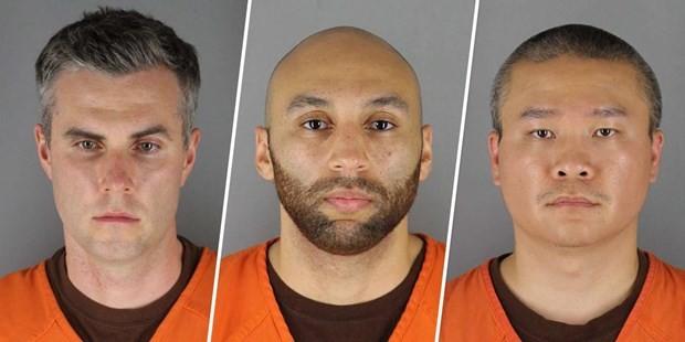 Ba cựu sỹ quan cảnh sát Mỹ bị buộc tội liên quan đến cái chết của George Floyd: Thomas Kiernan Lane, Alexander Kueng, và Tou Nmn Thao. (Nguồn: nbcnews.com)