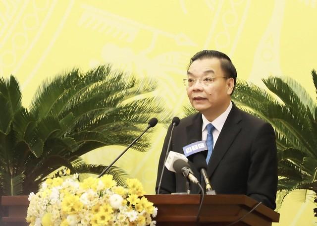 Ông Chu Ngọc Anh phát biểu sau khi được bầu làm Chủ tịch UBND TP Hà Nội