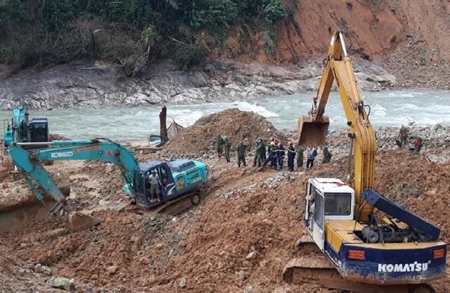 Hôm nay tiếp tục tìm kiếm công nhân mất tích ở thủy điện Rào Trăng 3